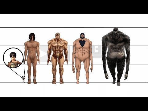 Attack on Titan | Characters Height Comparison
