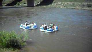 Turtle Tubing on the Colorado River at Dotsero