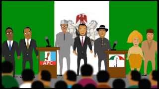 Nigerian funny cartoon 2015 presidential debate  Election no be war