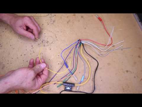 What do all the wire colors mean on an Alpine multimedia radio power plug