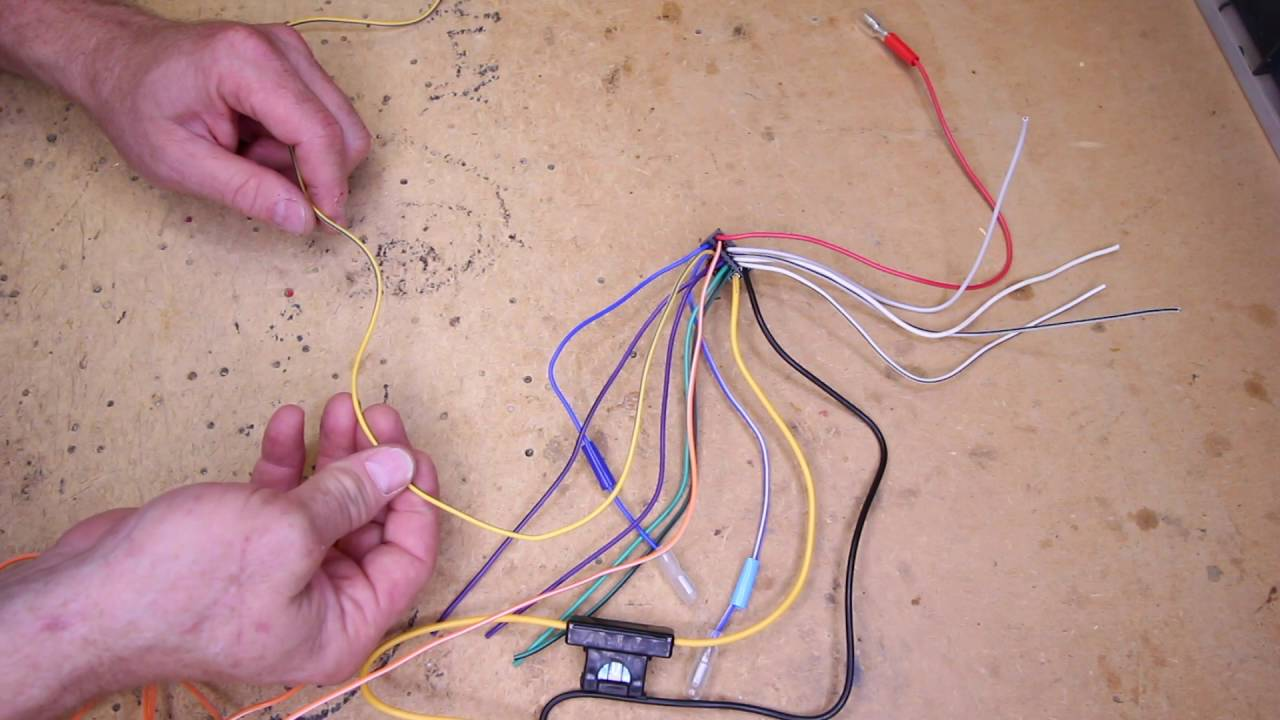 small resolution of what do all the wire colors mean on an alpine multimedia radio power plug