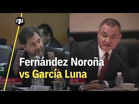 Los choques de García Luna con Fernández Noroña