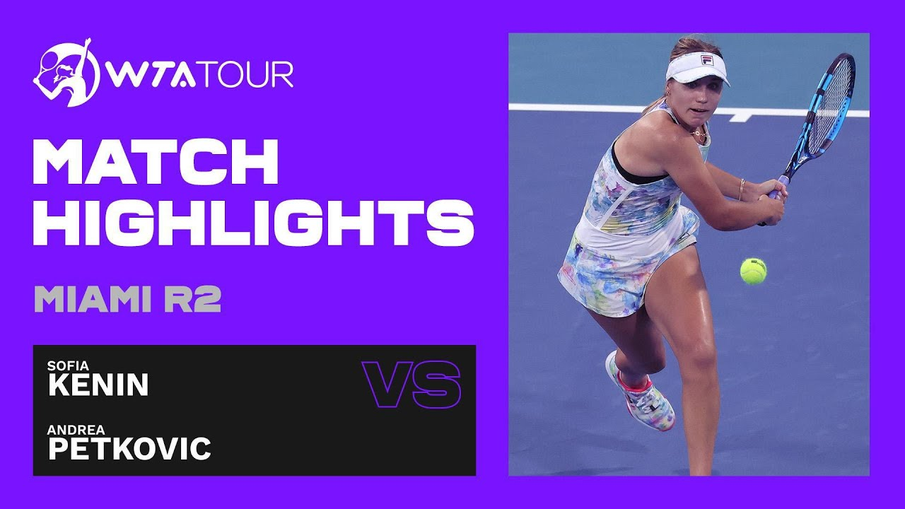 Andrea Petkovic vs. Sofia Kenin | 2021 Miami Open Round 2 | WTA Match Highlights