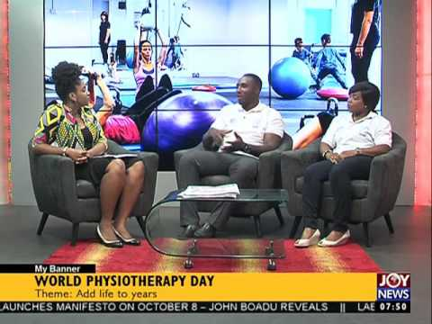 World Physiotherapy Day - My Banner on Joy News (8-9-16)
