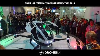 EHANG 184 Personal Transport Drone at CES 2016