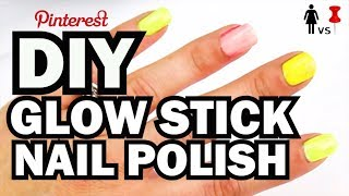DIY Glow Stick Nails - Corinne Vs. Pin #1