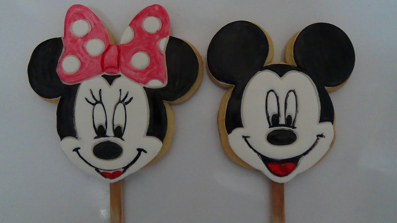 Minnie and mickey mouse cookies youtube - Minni et mickey ...