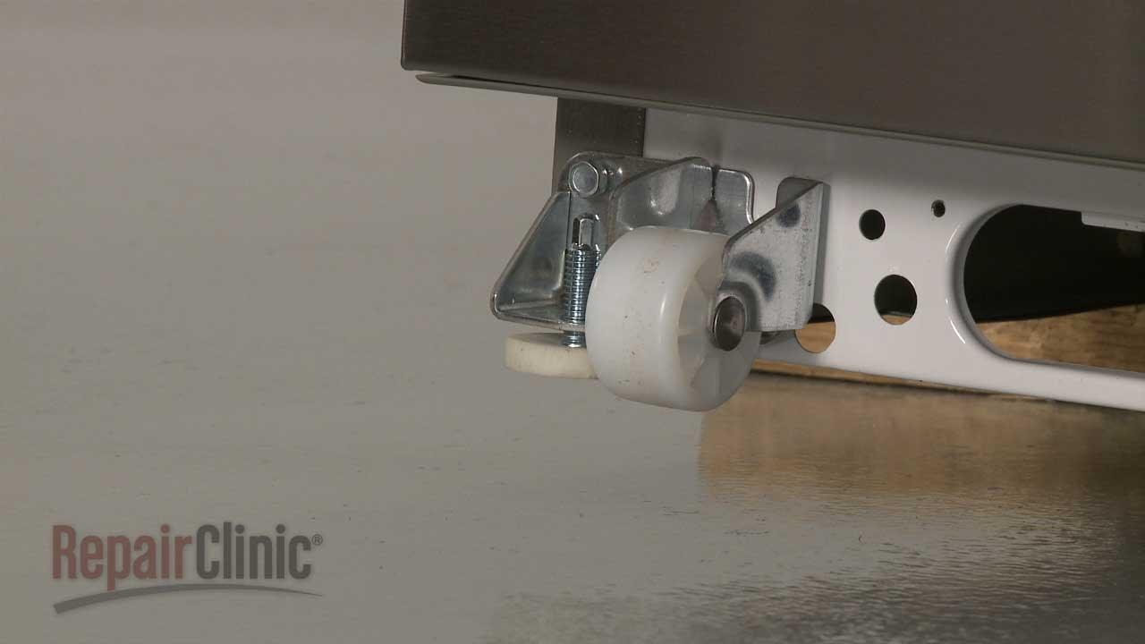 Whirlpool Refrigerator Repair >> Whirlpool Refrigerator Left Front Roller Replacement ...
