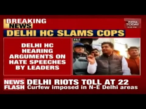 Delhi HC Hears Arguments On Hate Speeches By BJP Leaders