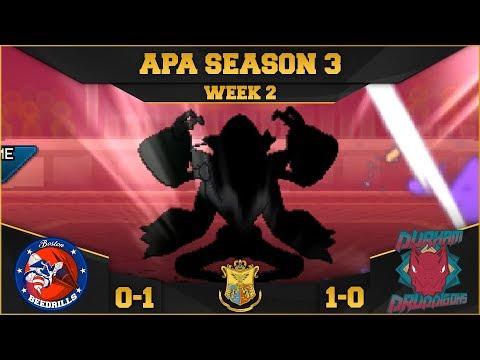 APA S3   Week 2   Boston Beedrills VS Durham Druddigons   Pokemon Ultra Sun and Moon WiFi Battles