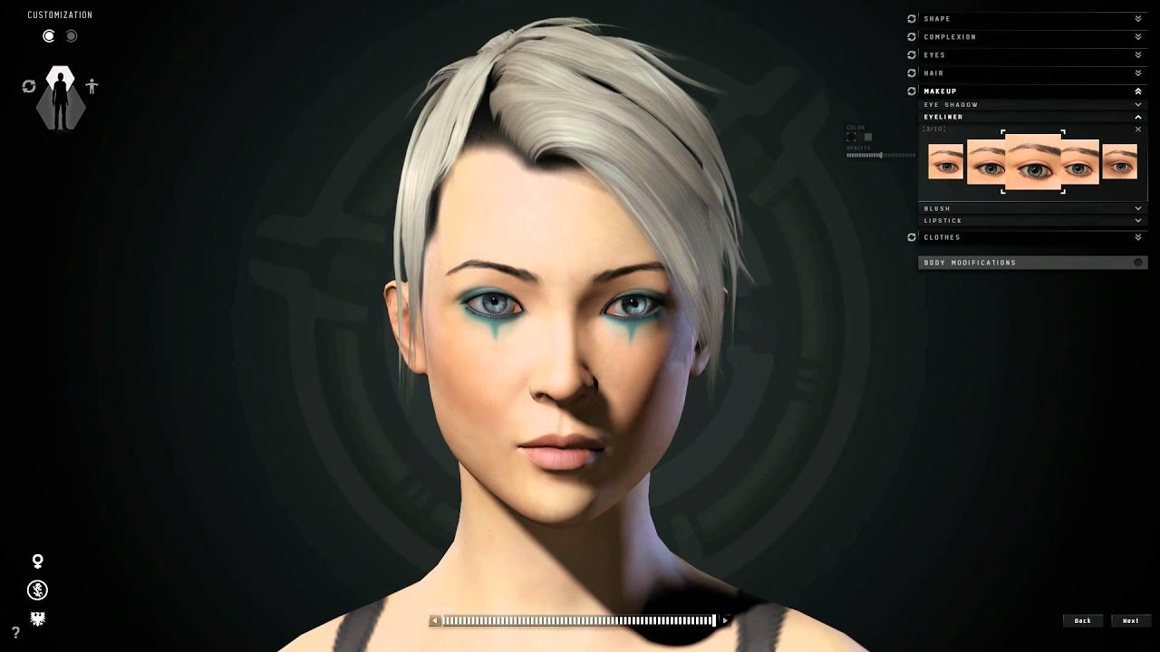 eve character creator youtube