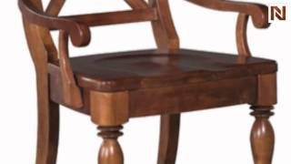 Kincaid 68-062 American Journal Arm Chair Wood Seat- Stain