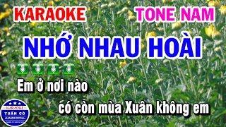 Karaoke Nhớ Nhau Hoài | Karaoke Nhạc Sống Tone Nam | Tuấn Cò