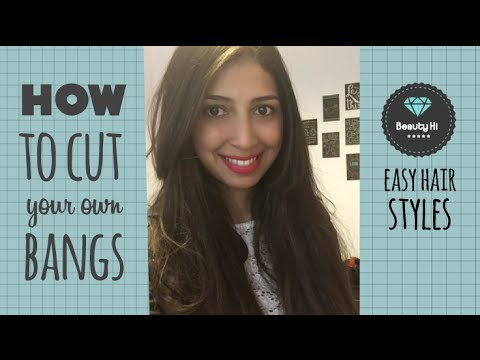 how to style short hair with bangs and layers how to cut bangs how to cut your own hair bangs 9714 | hqdefault