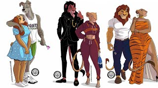 THE LION KING CHARACTERS IN HUMAN VERSION AS GANGSTERS