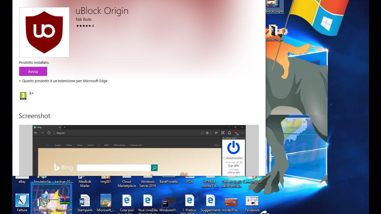 uBlock Origin per Microsoft Edge - YouTube