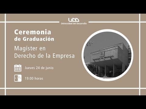 Ceremonia de Graduación Magíster en Derecho de la Empresa - Sede Concepción