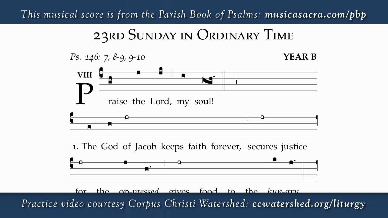 23rd Sunday in Ordinary Time, Parish Book of Psalms