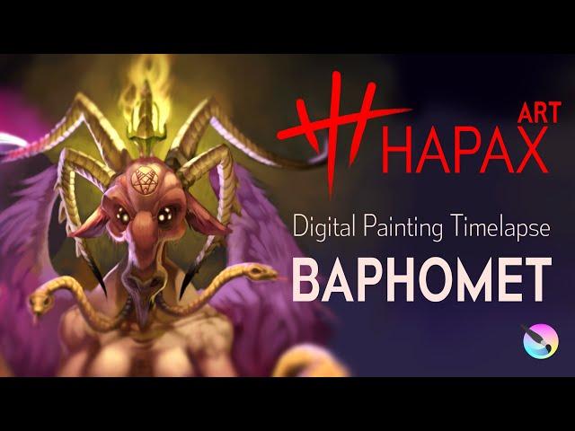 Digital Painting Timelapse | Baphomet