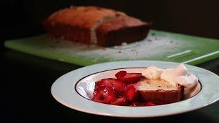 Strawberries with Pound Cake and Vanilla Cream