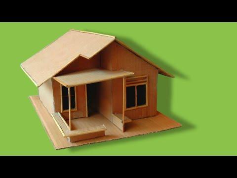 Miniatur Rumah Dari Kardus Bekas