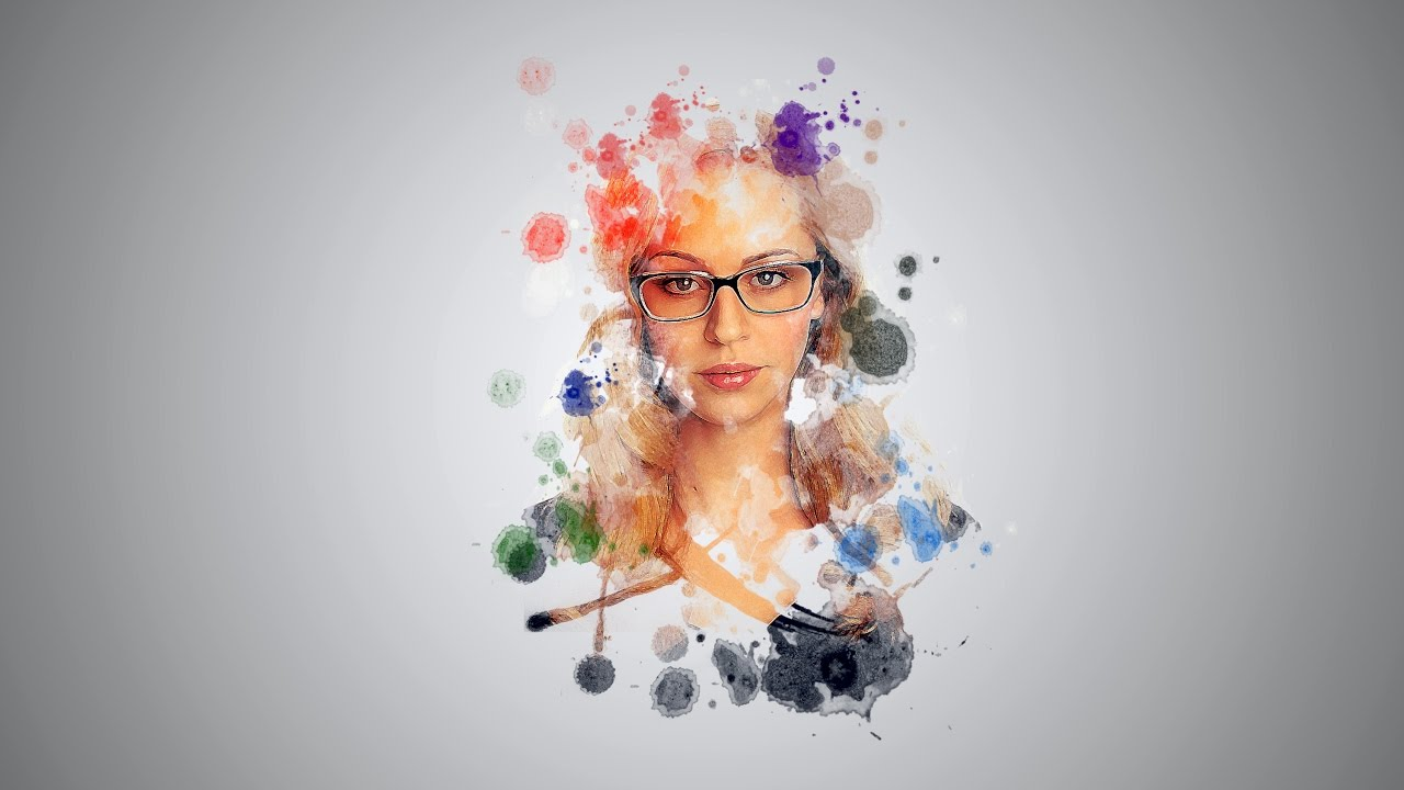 Watercolor art history brush cs6 - Photoshop Cc Tutorial Water Color Portrait Brush