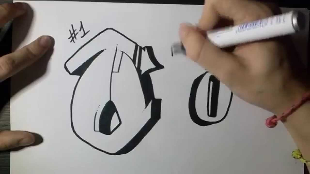 How To Draw Graffiti Letter O On Paper