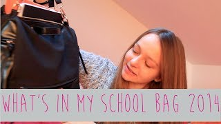 What's in my school bag 2014