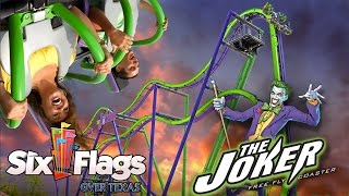 The Joker New Roller Coaster for Six Flags Over Texas in 2017!