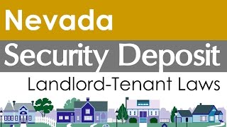 Nevada Security Deposit Laws for Landlords and Tenants