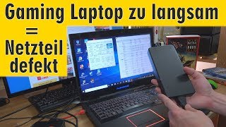 Gaming Laptop zu langsam = Netzteil defekt - Intel CPU taktet wieder hoch bei Windows 10