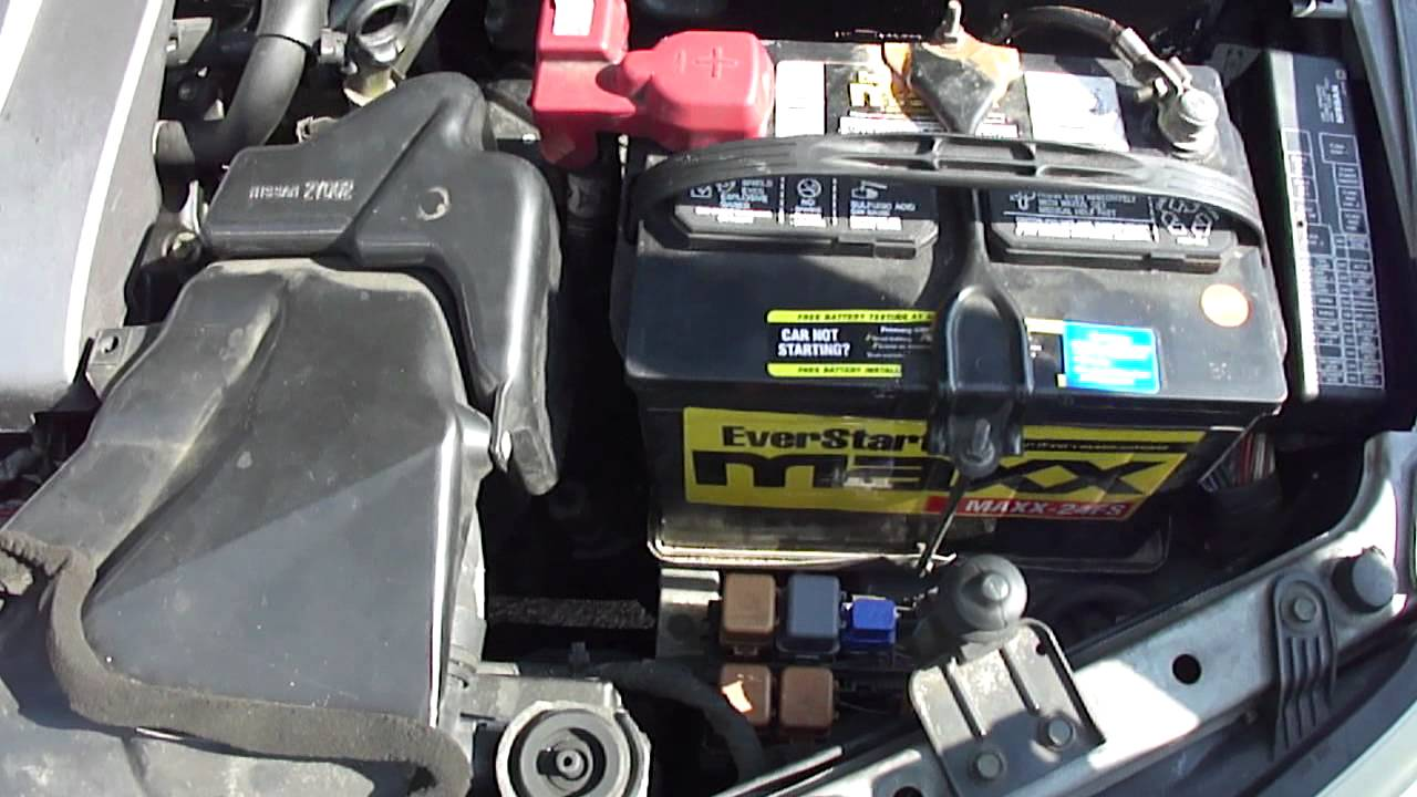 maxresdefault nissan maxima 2002 starter relay inhibitor youtube battery wiring harness at cita asia [ 1280 x 720 Pixel ]
