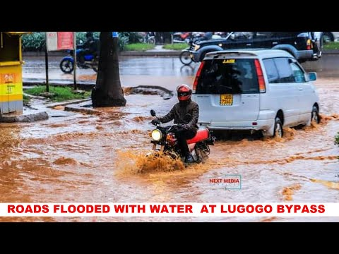 See How Roads Flood With Water At Lugogo Bypass Kampala