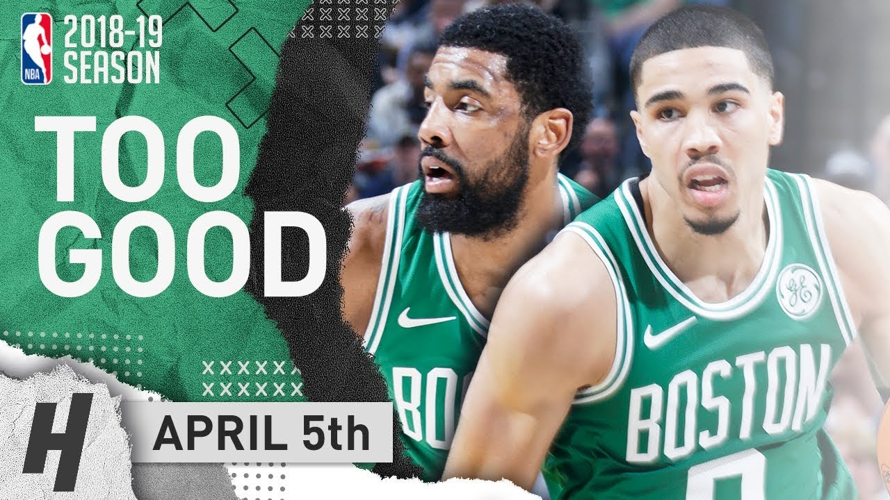 bd079e6e72a Kyrie Irving   Jayson Tatum SICK Highlights Celtics vs Pacers 2019.04.05 -  22 Pts for Tatum