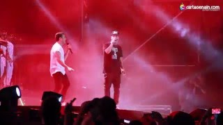 "Nicky Jam ft Silvestre Dangond ""Materialista"" Metro Concierto Histórico Cartagena 2016"