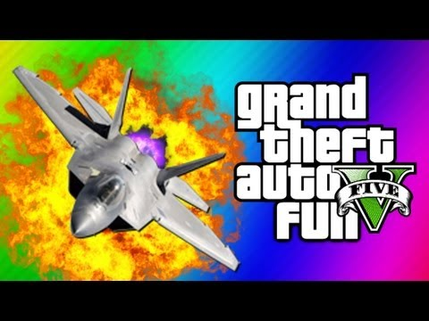 GTA 5 Funny Moments 5 - Fighter Jet Fun,...