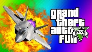 GTA 5 Funny Moments 5 - Fighter Jet Fun, Tank Glitch, Statue Guy, Flight School (GTA 5 Gameplay)