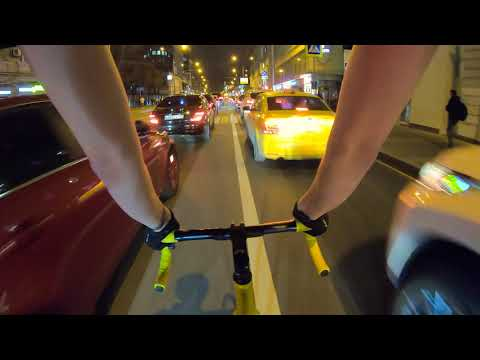 Riding On My Fixed Gear Bike In Moscow