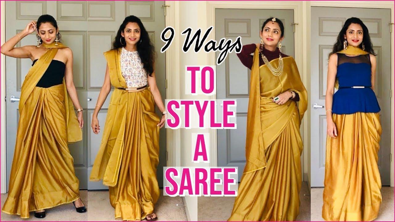 Draping styles images saree 85 Modern