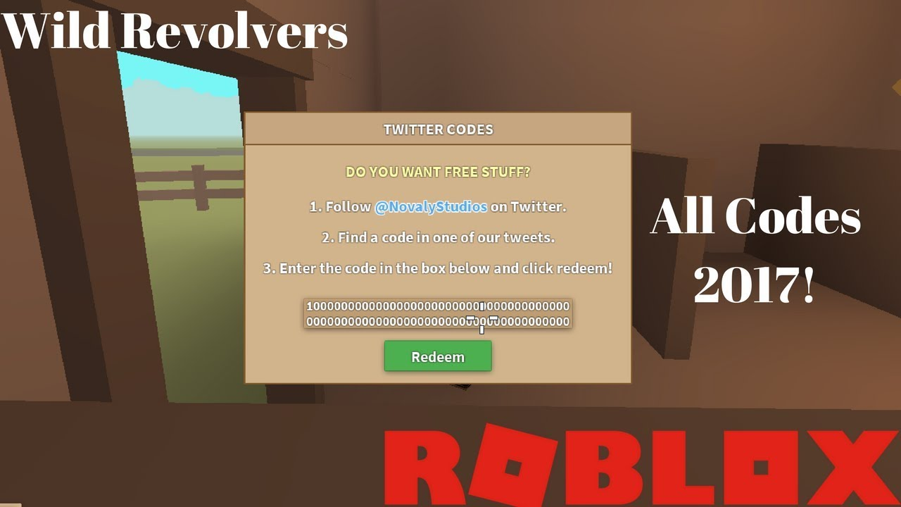 Wild Revolver All Codes 2017 Youtube - codes for wild revolvers on roblox