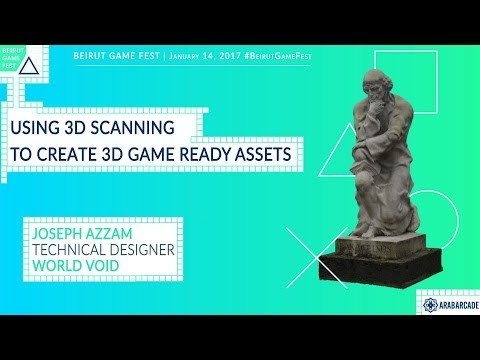 Using 3D Scanning to Create 3D Ready Game Assets
