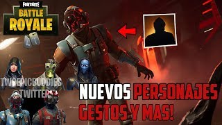 FORTNITE ? NEW CHARACTERS *SECRETS* GESTS, MOCHILAS AND DELTA ALAS! *TAQUILLAZO CHARACTER*