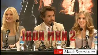 IRON MAN 2 Robert Downey Jr, Scarlett Johansson, Gwyneth Paltrow Press Conference - April 23, 2010