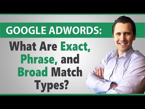 Google AdWords: What Are Exact, Phrase, and Broad Match Types?