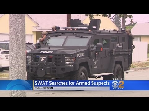SWAT Swarms Fullerton Neighborhood Looking For 4 Suspects