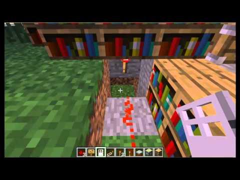 Minecraft geheime gang in boekenkast met redstone youtube - Decoreer een gang ingang ...