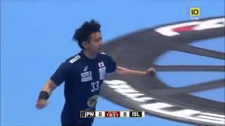 ハンドボール 日本vsアイスランド 得点シーン