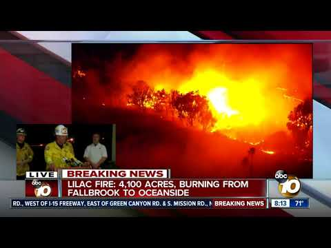 Officials hold news conference on Lilac Fire