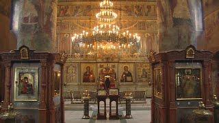 Божественная литургия 24 мая 2020 г., Сретенский мужской монастырь, г. Москва