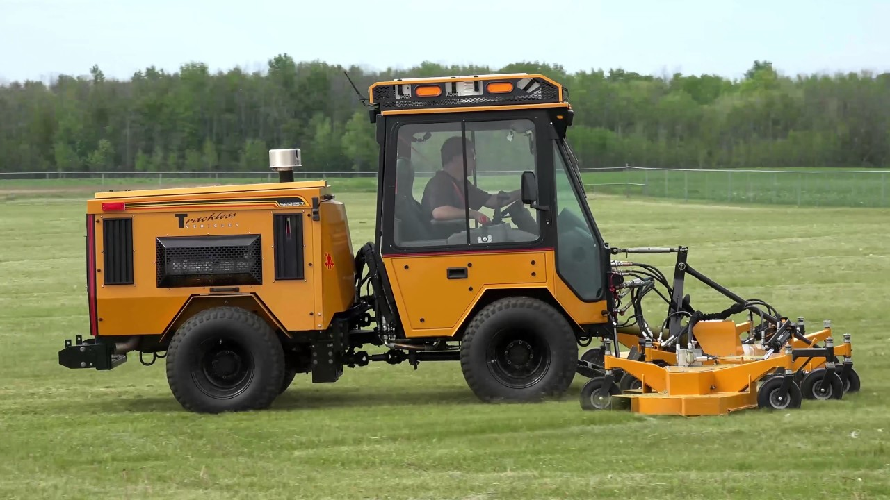 Trackless Mt7 14 Rotary Finishing Mower